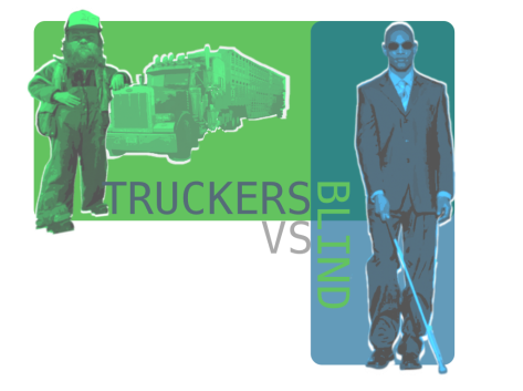 Truckers vs blind logo
